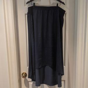 Chico's Navy Hi-Lo Skirt